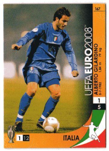Alberto Gilardino of Italy. Euro 2008 card.