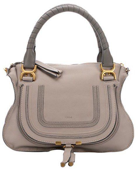 Chloe light motty grey leather \u0026#39;Marcie\u0026#39; medium convertible top ...