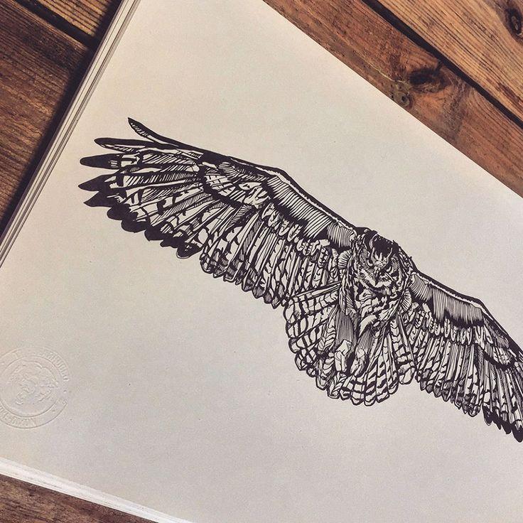 Owl from a few years ago #thebearhugco #LukeDixon
