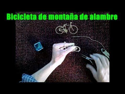 Bicicleta de montaña hecha de alambre - YouTube