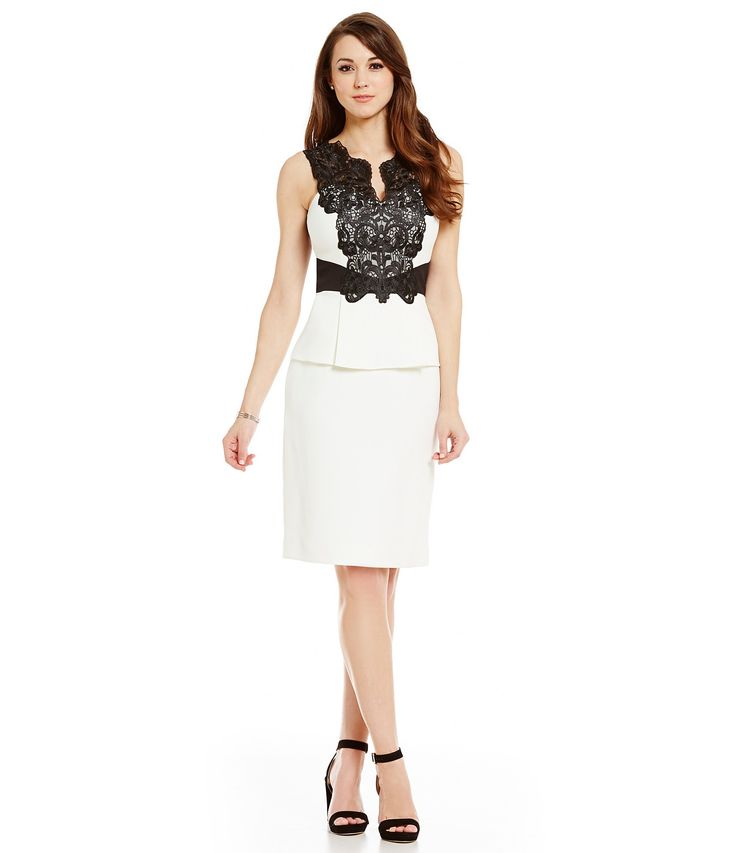 Shop for Antonio Melani Lily Contrast Lace Sleeveless Sheath Dress at Dillards.com. Visit Dillards.com to find clothing, accessories, shoes, cosmetics & more. The Style of Your Life.