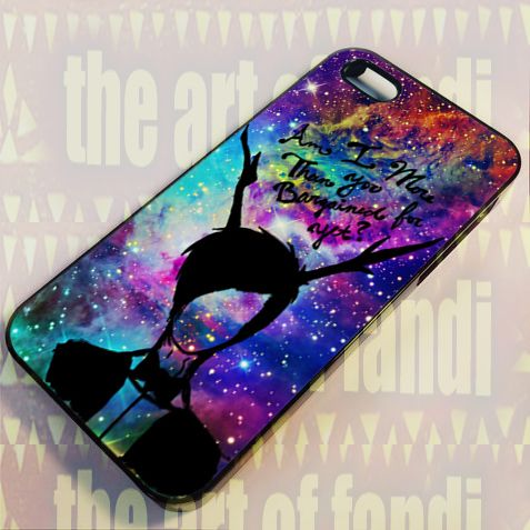 Fall Out Boy Quote Galaxy Nebula For iPhone 4 or 4s Black Rubber Case