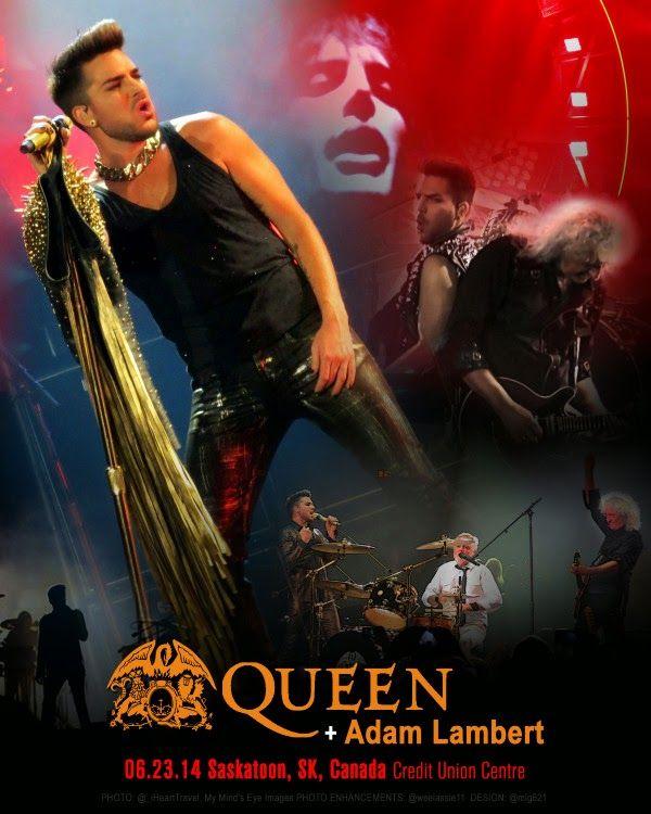 QUEEN + ADAM LAMBERT TOUR 2014 - Saskatoon