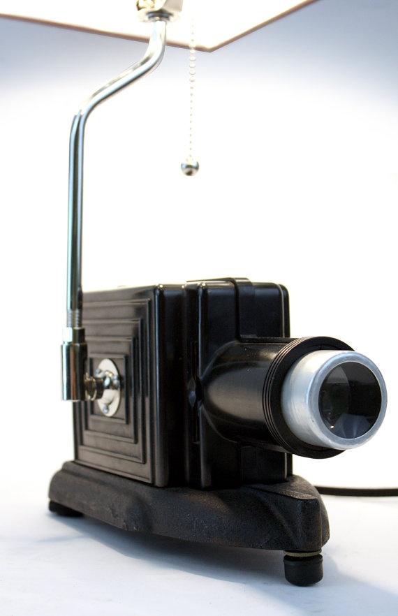 Vintage Cinema Lamp // Upcycled Vintage Light // by weareMFEO, $275.00