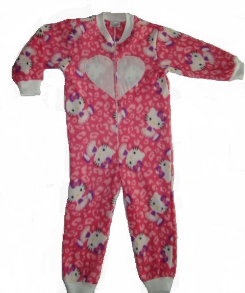 Hello Kitty onesie with GLOW in the DARK heart. Onesie + GLOW in the DARK = GLOWSIE = endless amount of fun for children.