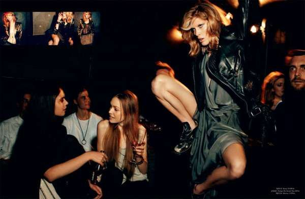 Party Girl Editorial - Iselin Steiro Cover Magazine Spread Dances the Night Away…