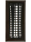 Solid Steel Mission Style Louvered Floor Register, In 6 Finishes. Register Cover.
