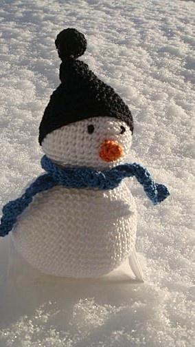 Bonhomme de neige au crochet - Le blog d'Isabelle M