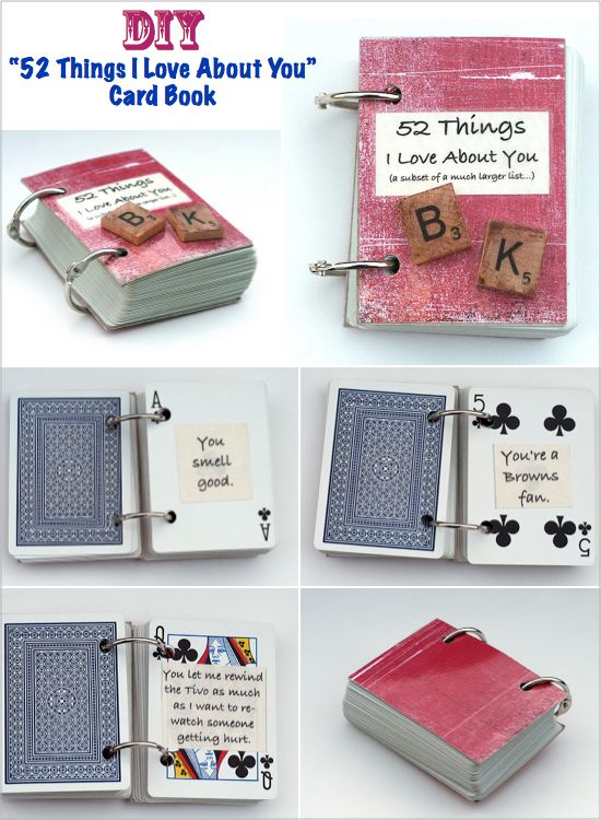 """Gift ideas... """"52 things I love about you"""""""