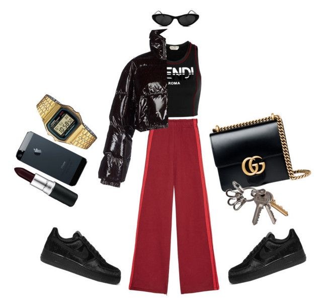 Fendi bbz. by vintagedollrisa on Polyvore featuring polyvore, fashion, style, Moschino, Vetements, Fendi, NIKE, Gucci, Casio, MAC Cosmetics and clothing