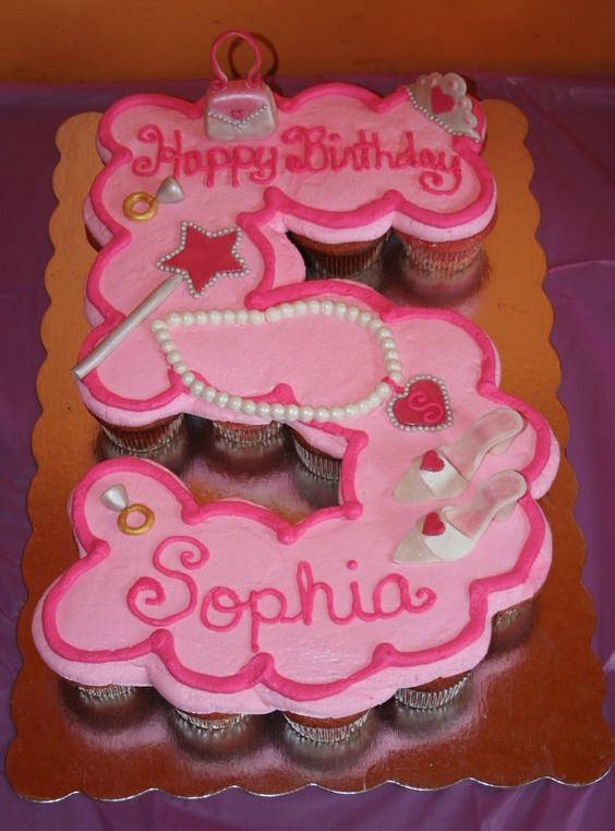 21 Pull Apart Cupcake Cake Ideas   Pretty My Party - like the age idea!