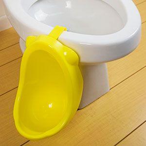 Hanging potty training urinal