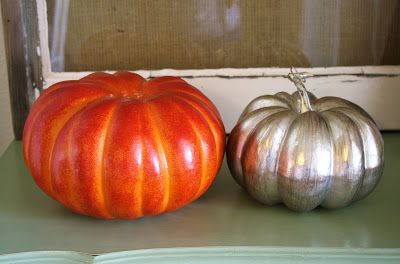 When Halloween was over and it was time to take my Glitter Pumpkin Topiary down. I needed something to fill my lonely flower pot on the front porch though, so I decided to whip up a Fall Pumpkin To…