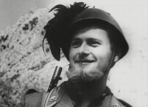 Bearded soldier of the Bersaglieri corps. Eastern front, 1942