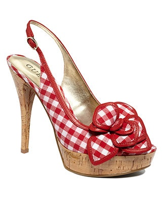 GUESS Women's Shoes, Tabina Slingback Platform Pumps - SALE & CLEARANCE - Shoes - Macy's