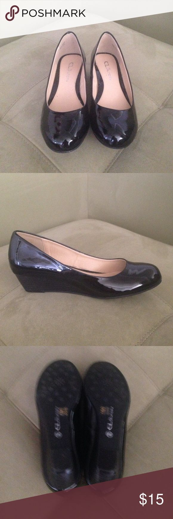 CL by Laundry Black Wedge Pump Black, Wedge Pump, One day used, like new! CL by Laundry  Shoes Wedges
