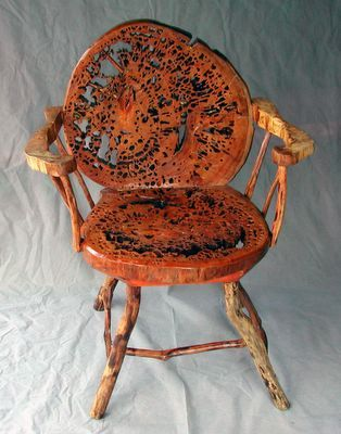 Floored By This Beauty Chair Made From 500 Year Old Pecky