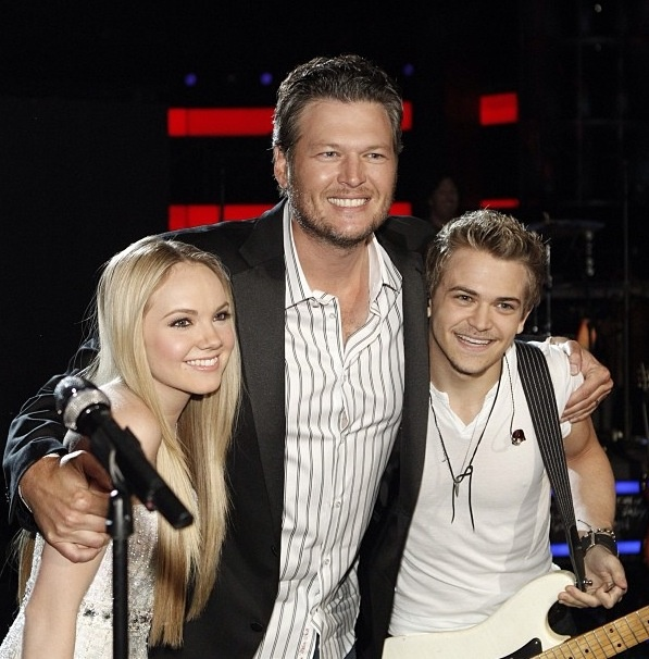 Hunter Hayes, Blake Shelton and Danielle Bradbery