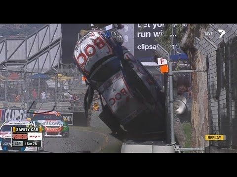 #V8Supercars | How's this for an amazing start to the #2014 #v8sc series! Jason Bright Adelaide, Race 3. Thankfully he walked away ok.