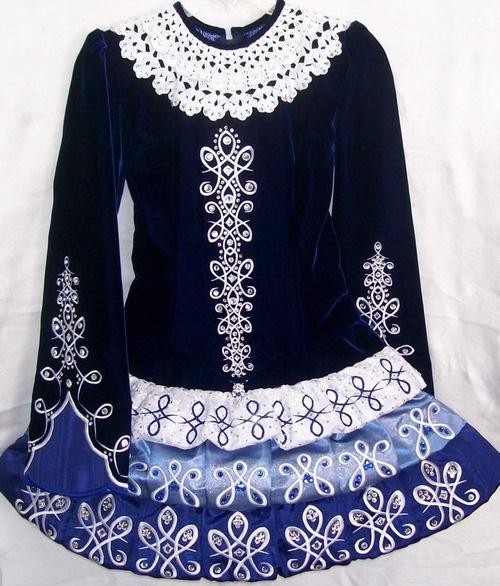 Blue velvet & lace #Irish Dance #dress #solo dress- OMG this is Megan M. Dress made by Doreen. LOVE IT.