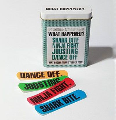 (:: Bandaid, Ideas, Urban Outfitters, Bands Aid, First Aid, Sharks Bites, Funny, Kids, Ninjas