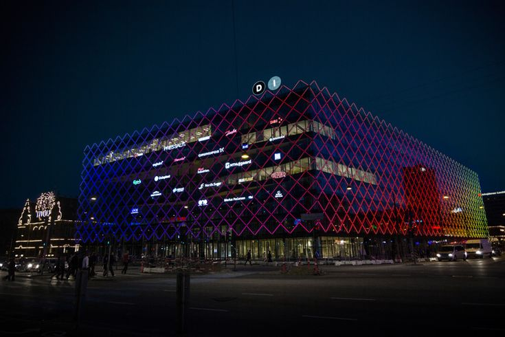 confederation of danish industry headquarters interactive LED facade