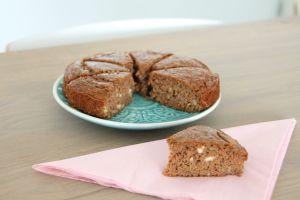 Noten wortel cake > wortel, notenpasta, honing, kokosmeel, eieren
