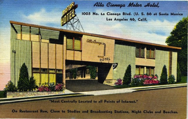 17 best images about route 66 postcards on pinterest for Motor hotel los angeles