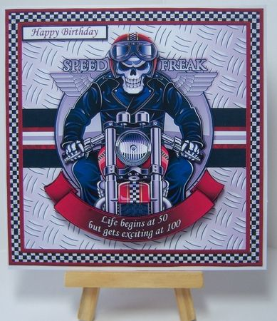 BIKER LIFE BEGINS AT Humorous 7.5 Decoupage Insert & Ages Mini Kit - CUP864837_68 | Craftsuprint
