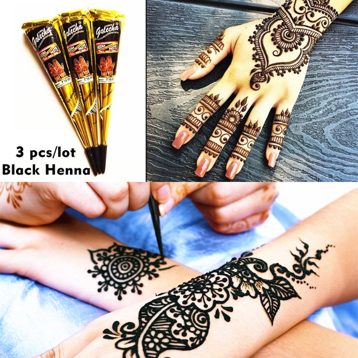 Mehndi Henna Hitam Tato Pasta Kerucut 3 pcs/lot + Kilat Sementara Tato Tubuh Seni Stensil Henna Tatoo Pernikahan Dewasa Seks produk