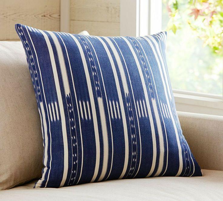 corbett ikat stripe cushion cover pottery barn australia indigo by pottery barn australia. Black Bedroom Furniture Sets. Home Design Ideas