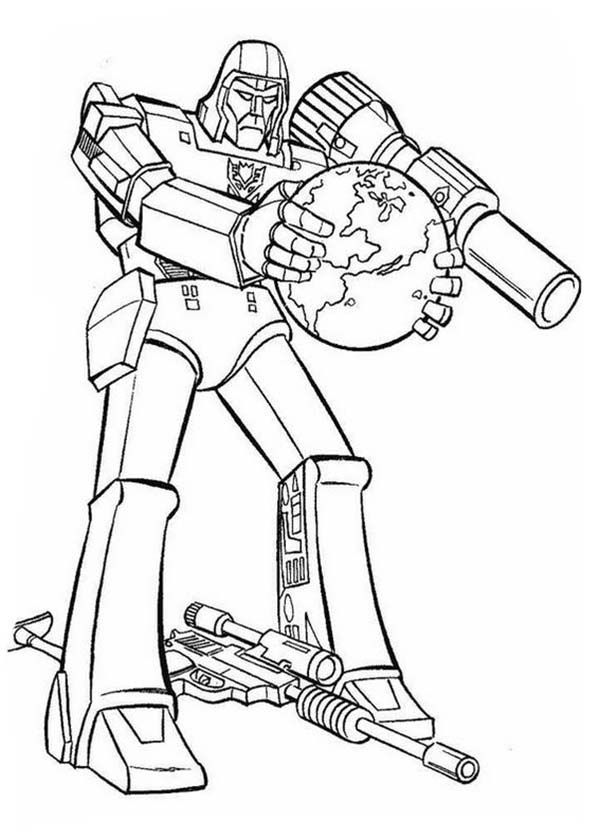 Transformers Decepticon Want To Destroy Earth In Transformers Coloring Page Transformers Coloring Pages Earth Coloring Pages Toy Story Coloring Pages