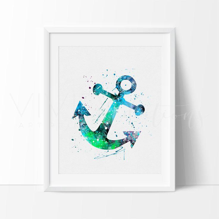 Boat Anchor Nautical Nursery Art Print Wall Decor