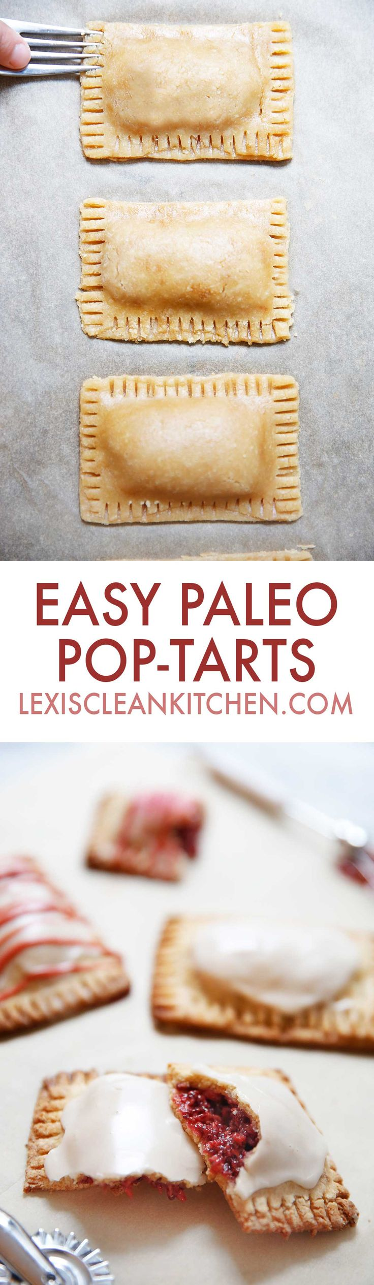 Ever wonder how to make homemade pop tarts? I've been dreaming of making a paleo healthy pop tarts recipe for some time now, and we've finally got the homemade pop tart recipe just right for you! This homemade pop tart recipe is gluten-free and grain-free, and pairs wonderfully with my homemade chia seed jam.