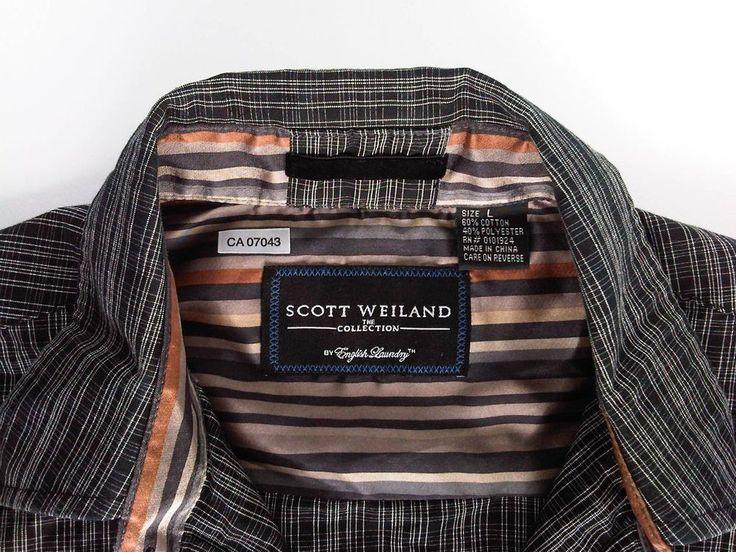 Scott Weiland Shirt English Laundry Flip Cuffs Detailing