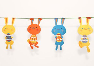 this supercute easter bunny garland is available to download here for free from happythought this easter: Happy Thoughts, Easter Bunnies, Easter Printables, Bunnies Garlands, Print Patterns, Easter Garlands, Free Printable, Easter Bunny, Garlands Printable