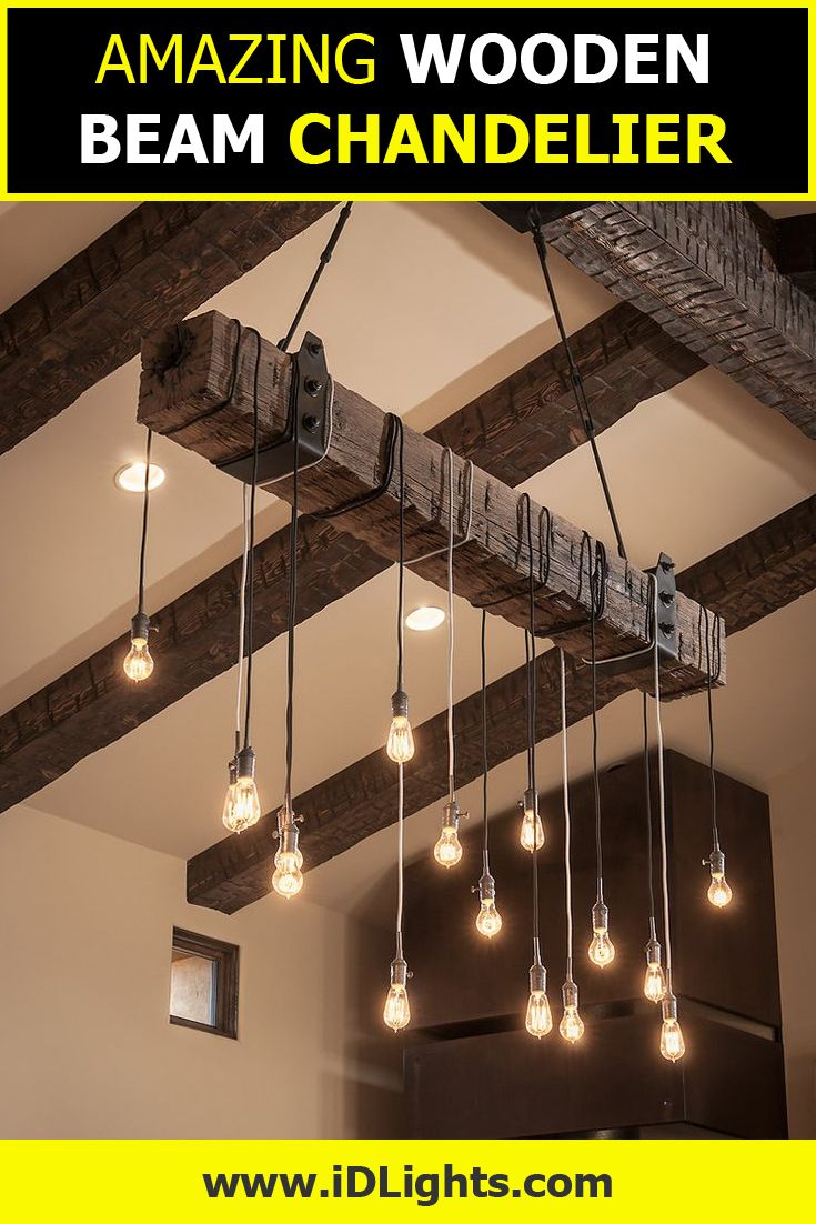 390 best pendant lighting chandeliers diy rustic images on create your own rustic industrial chandelier for your modern farmhouse lighting with a reclaimed wood beam arubaitofo Image collections