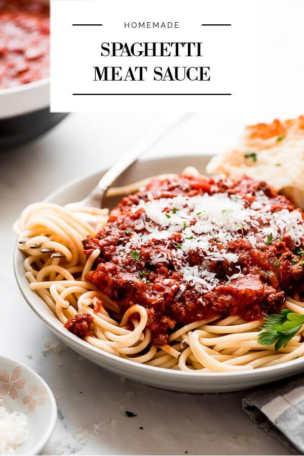 Slow Cooker Spaghetti Meat Sauce Garnish Glaze Recipe In 2020 Italian Spaghetti Recipe Homemade Spaghetti Homemade Italian