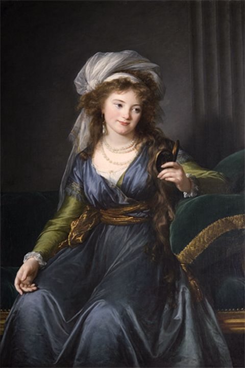Countess Skavronskaia - 1790  Oil on canvas, 134.9 x 94.9 cm  Painted in Naples  Institut de France, Musee Jacquemart-Andre