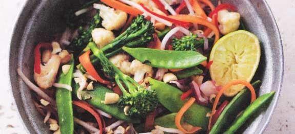 Vastendieet recepten Pittig Thais Roerbakgerecht. Weer een kans om uit je dak te gaan met het Vastendieet recepten groene groenten en zoveel te eten als je in één maaltijd op krijgt.