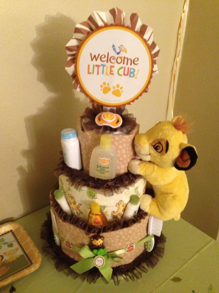 lion king diaper cake | Pinned by migdalia diaz