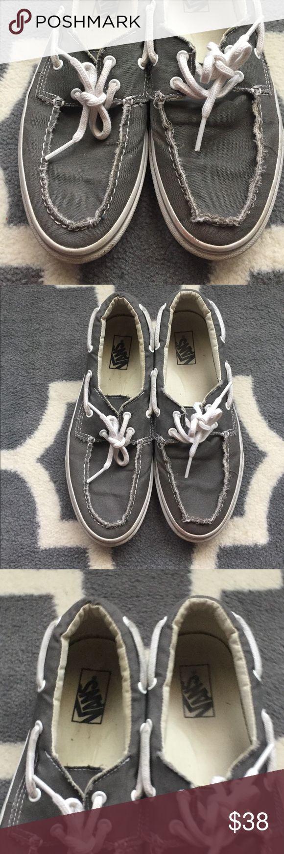 Van Boat Shoes Grey canvas vans boat shoes Vans Shoes Boat Shoes