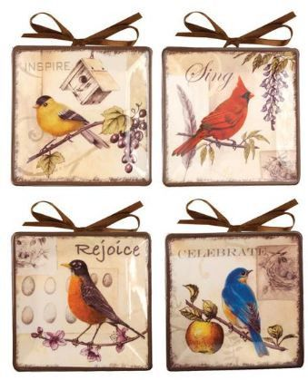 Manual Decorative Plates Mini Songbirds by Sandra Clough Set of 4  sc 1 st  Pinterest & 28 best Mini Plates images on Pinterest | Dinner plates Dish and Dishes