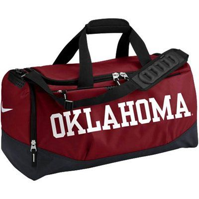 Oklahoma Sooners Nike Medium Training Duffle Bag – Crimson