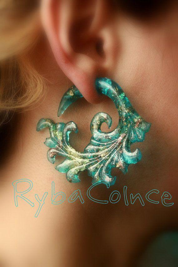 Fake ear gauge / Faux gauge/Gauge earrings / fake by RybaColnce, $27.00