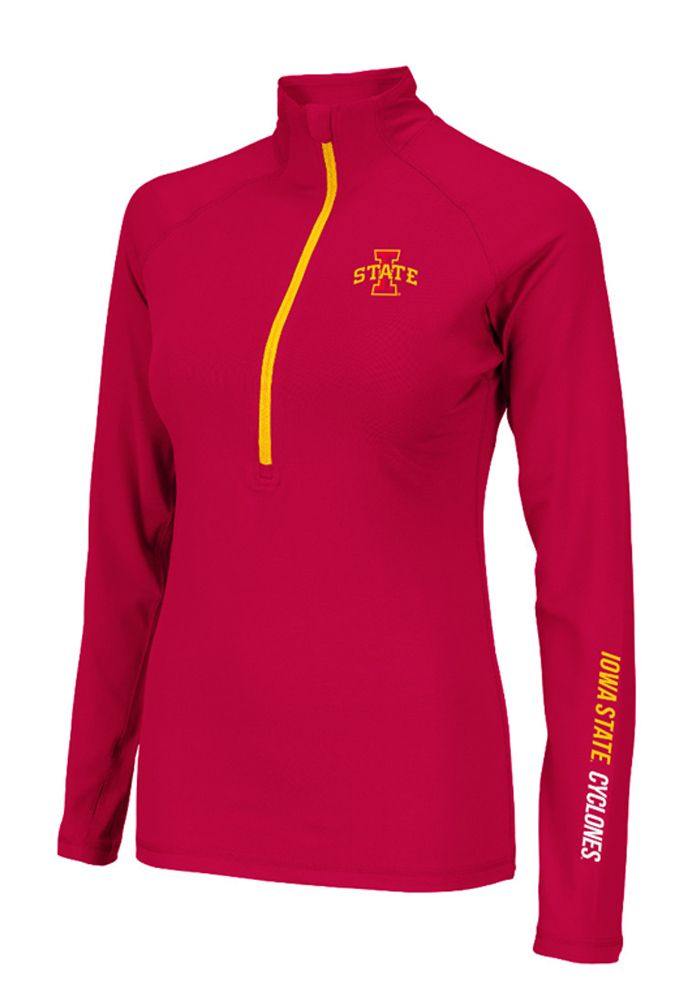 Iowa State Cyclones Womens 1/4 Zip Pullover - Red Cyclones Soho Long Sleeve Pullover
