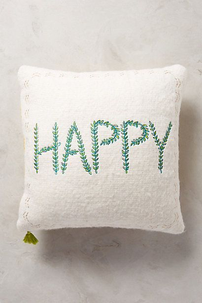 Merry Sentiments Pillow - anthropologie.com #anthroregistry