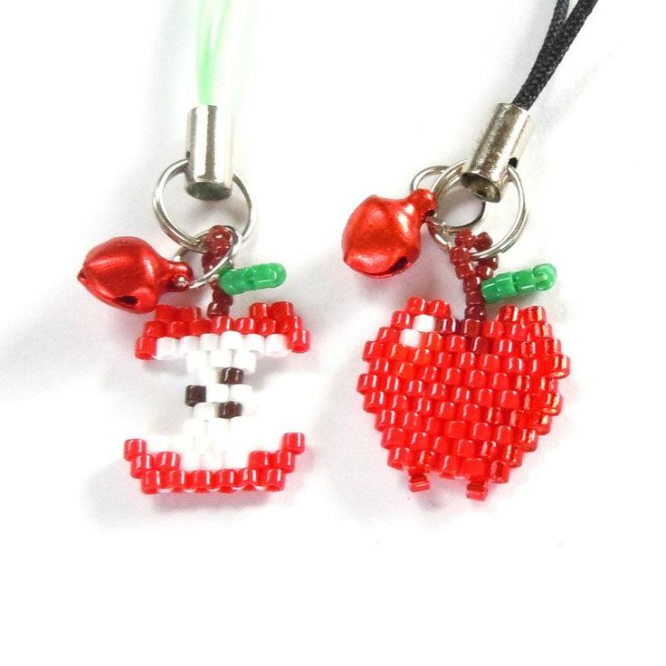 Awesome apple and apple core by Handmade Cuties (Facebook)/Bead Crumbs