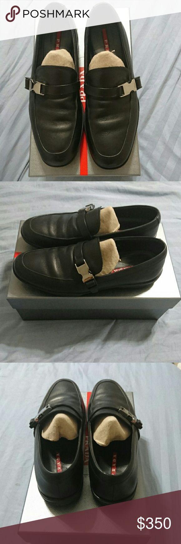 Prada mens shoes size 7 Prada slip on buckle shoes Prada Shoes Loafers & Slip-Ons