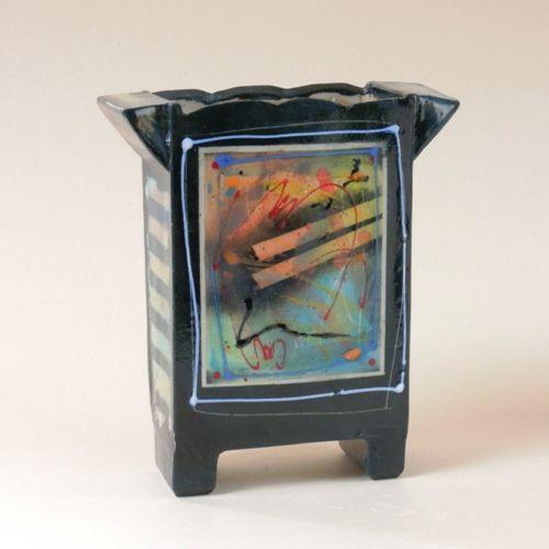 Kunst - keramiek - Netty Janssens - Vaas plastiek - 1